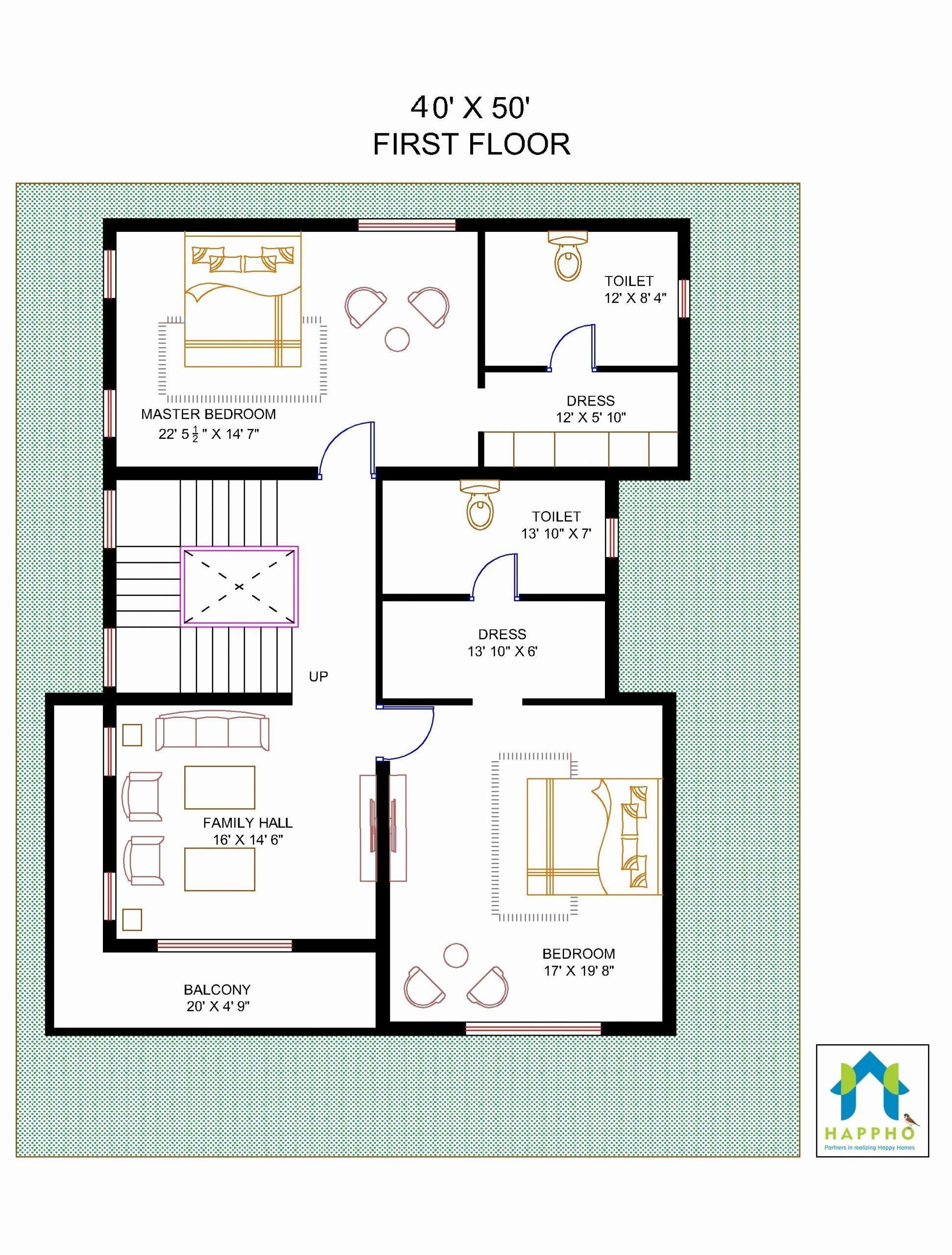 40 X 50 House Plans Lovely Floor Plan For 40 X 50 Plot Unique Floor Plans Basement House Plans Square House Plans