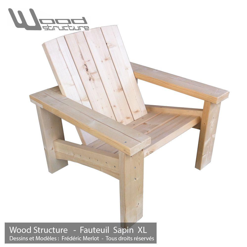 Fauteuil Sapin XL - Design Wood Structure - Fabriqué en France par ...
