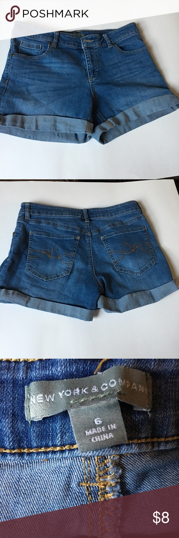 ✅2 for $15 New York & Co Denim Jean Shorts Excellent condition. No tears, stains or marks. Combine with any item with a ✅ for a $15 bundle or add three more items for 30% Off Bundles. New York & Company Shorts Jean Shorts