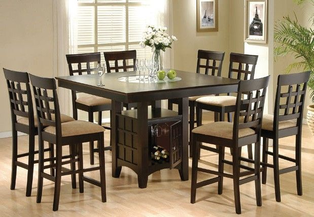 I Want This High Dinning Table Wine Storage Square Dining Tables Counter Height Dining Table Set Dining Table With Storage