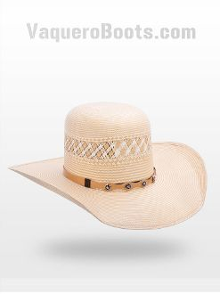 Tombstone 30x Open Crown Cowboy Straw Hat Two Tone  6b7959c3ffb