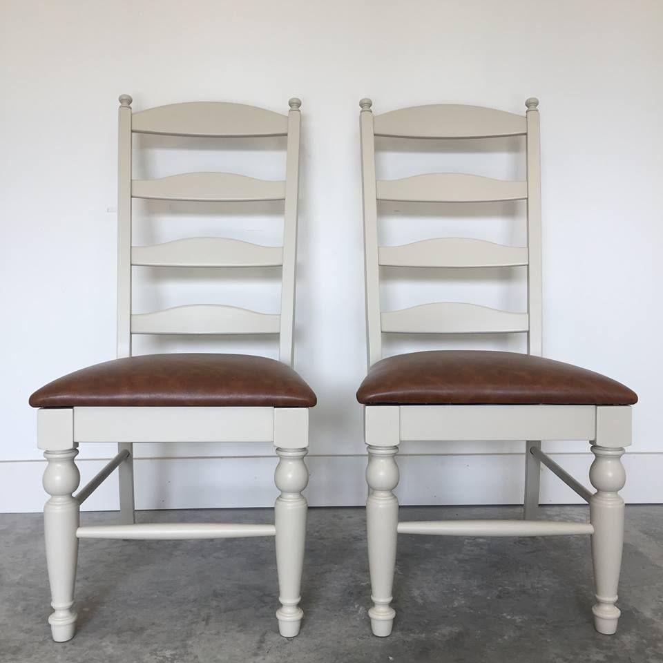 Antique white farmhouse dining chairs home decor