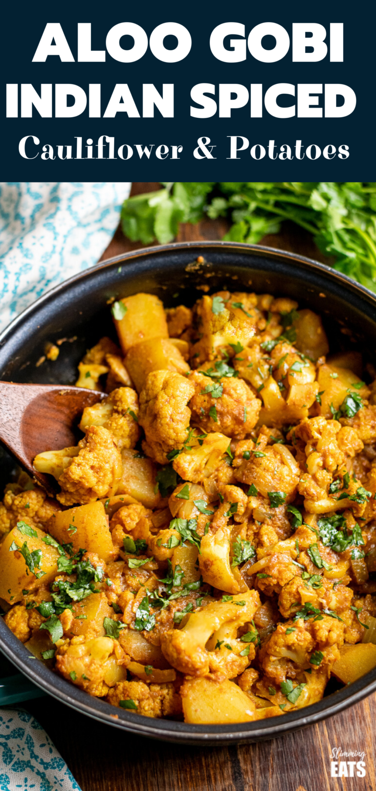 Delicious Aloo Gobi A Popular Vegetarian Dish Of Potatoes And Cauliflower Coated In Delicious Indian Food Recipes Indian Food Recipes Vegetarian Aloo Recipes