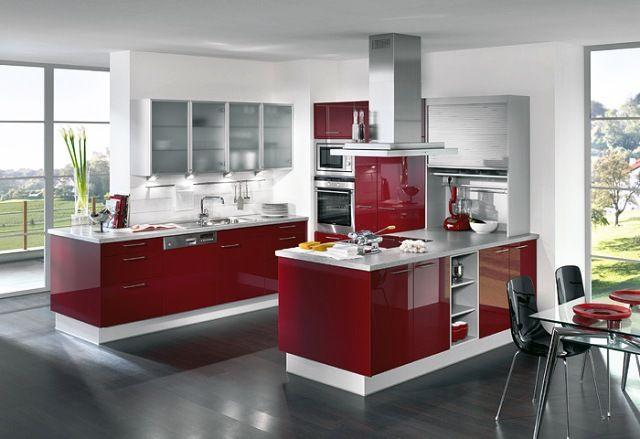 Red Minimalist Kitchen Design Ideas House