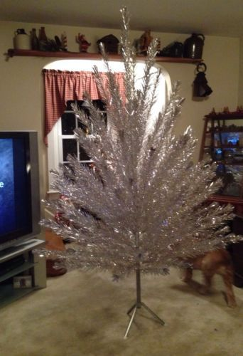 78abad56fca20 103, auction, ends sunday Vintage Angel Pine Crystal Silver Aluminum Christmas  Tree 7ft Tall Ex Cond