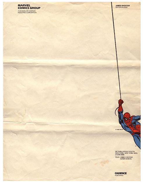 Vintage Marvel Comics Group stationery