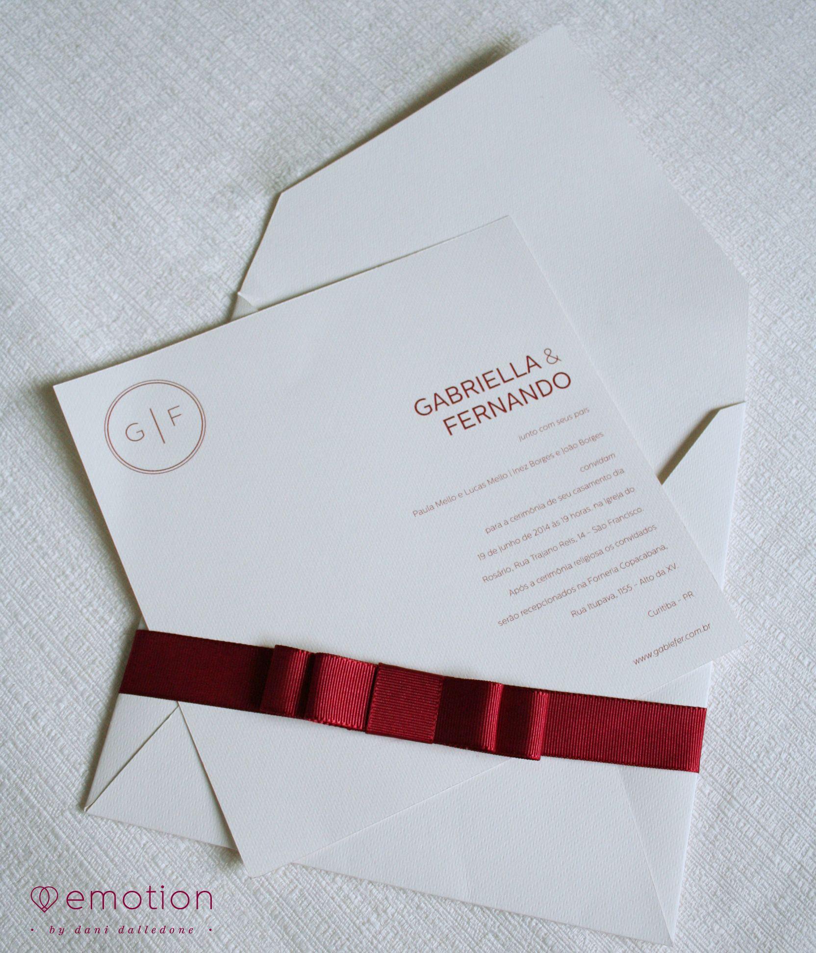 Modern Invitation | Clean Invitation |   Burgundy invitation | Convite minimalista | Convite Clean | Convite de casamento moderno | convite diferente