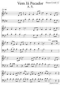 Partituras Harpa Crista Vem Ja Pecador Harpa Crista 012