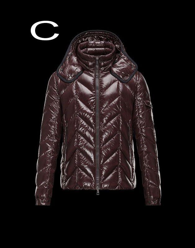 Moncler Berriat Men Bright Detachable Hood Down Jacket Outerwear Coffee