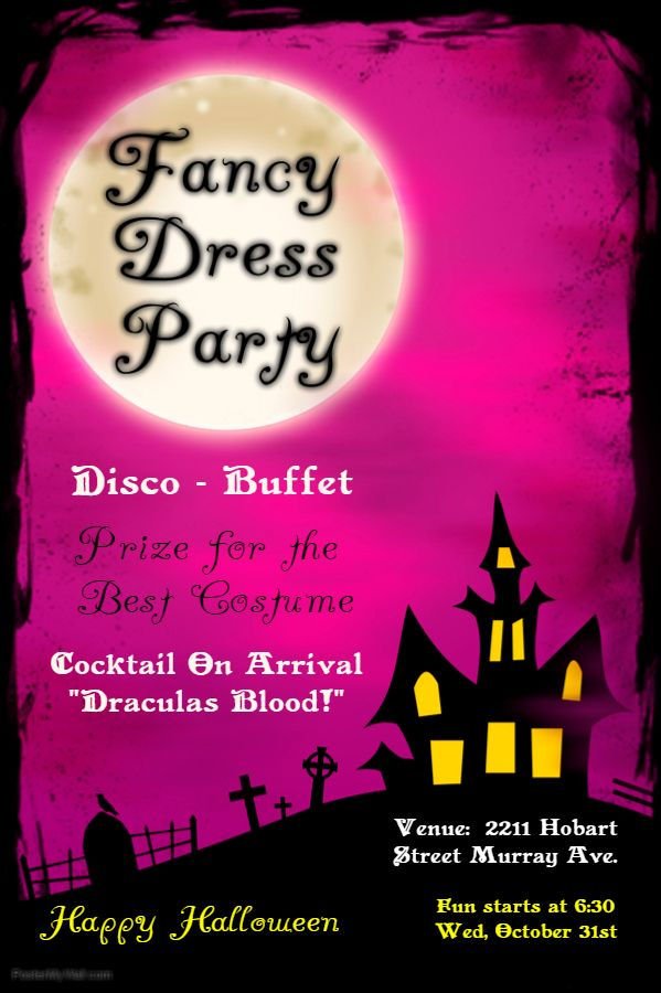 halloween fancy dress party poster template design halloween