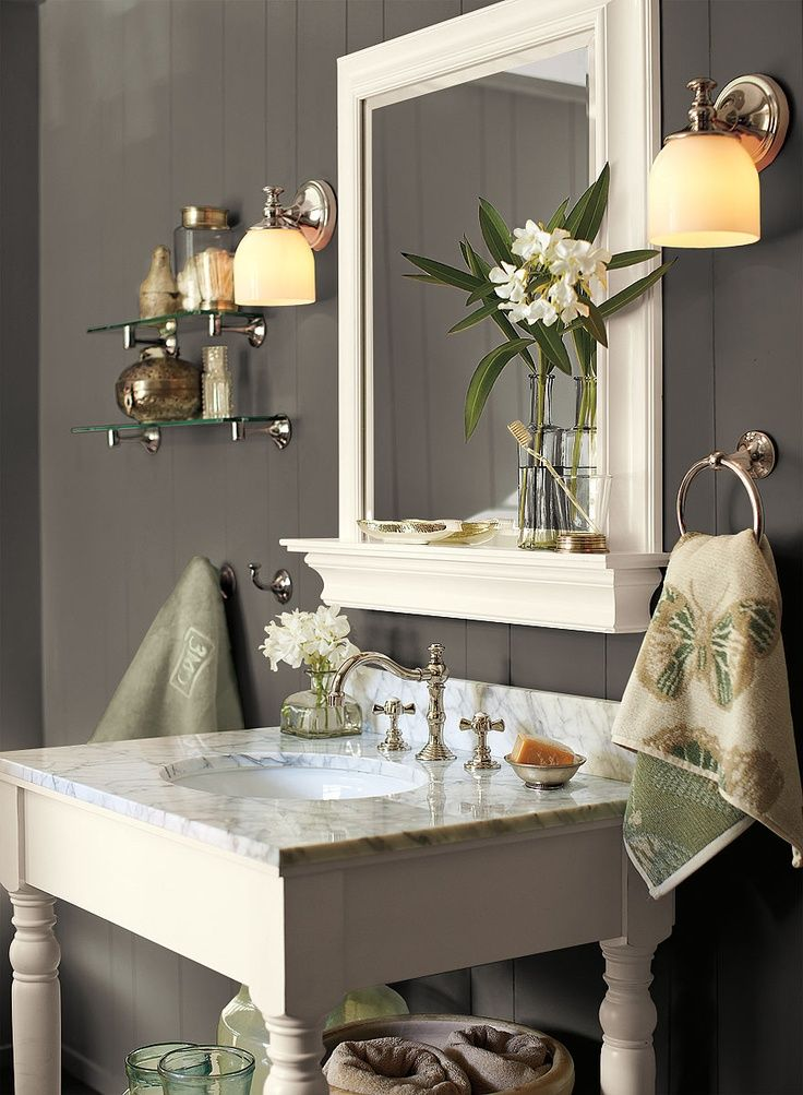 Image result for gray walls and white trim accent color - Accent color for gray and white bathroom ...