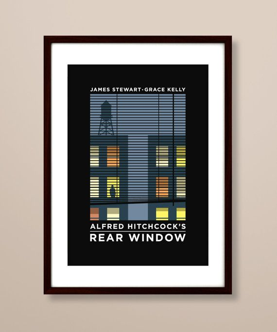 Rear Window poster Rear Window poster print Rear by TheIndoorType