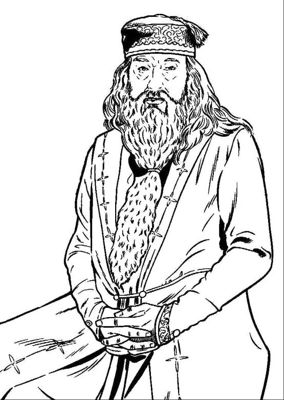 Printable Dumbledore Coloring Pages | burrels bedroom | Pinterest