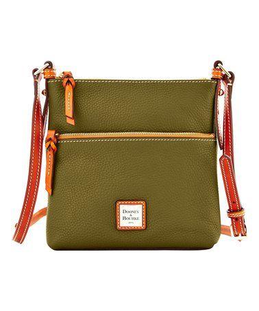 $99.99 marked down from $168! Dooney & Bourke Olive Letter Carrier Leather Crossbody Bag #olive #dooneyandbourke #crossbody #zulily! #zulilyfinds