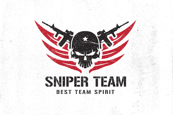 Sniper Team II | Logo templates, Vector file and Adobe illustrator