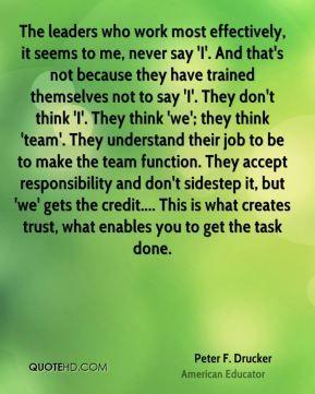 Peter F Drucker Quotes Leadership Quotes Teacher Relationship Peter Drucker