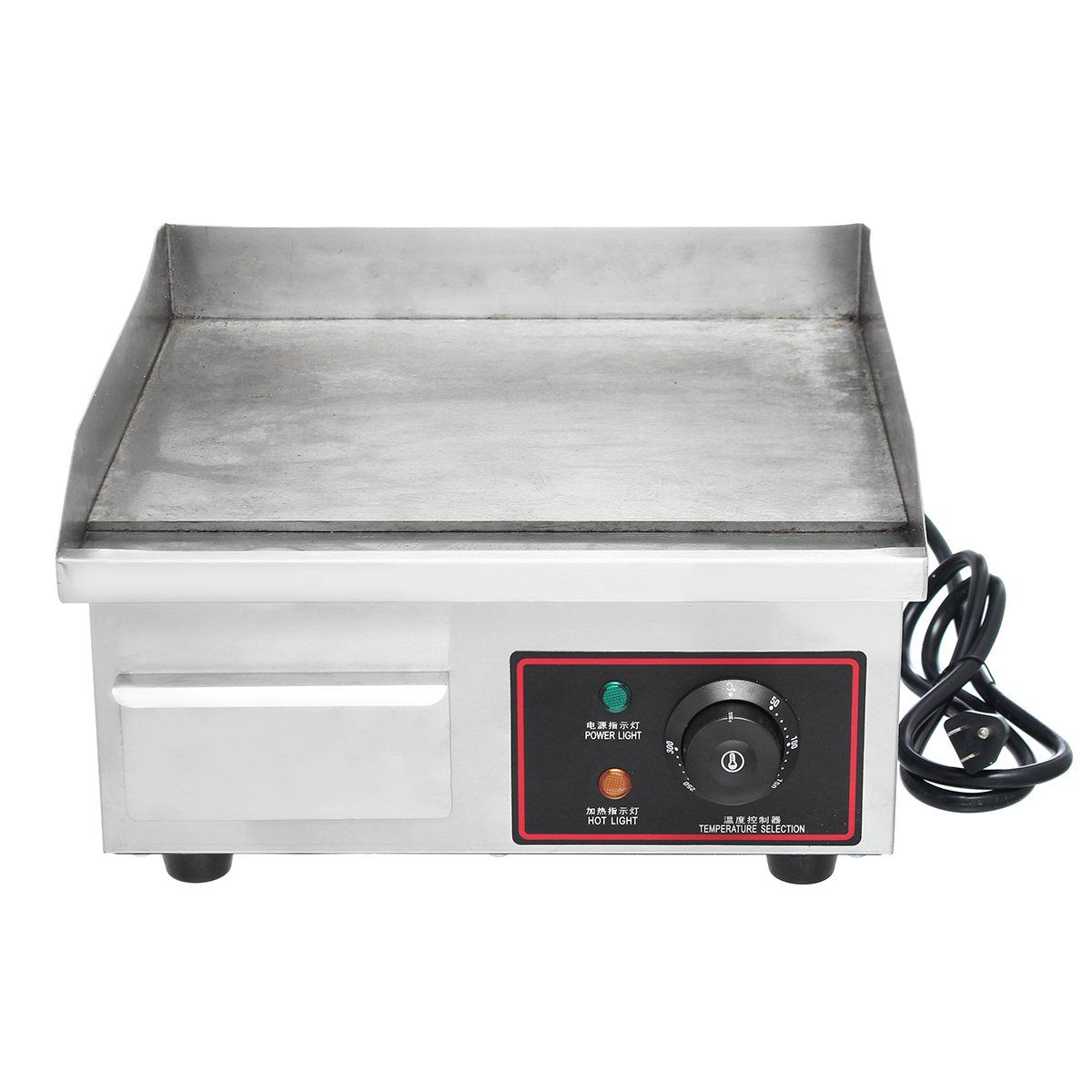 1500w 110v Electric Countertop Griddle Commercial Restaurant Flat