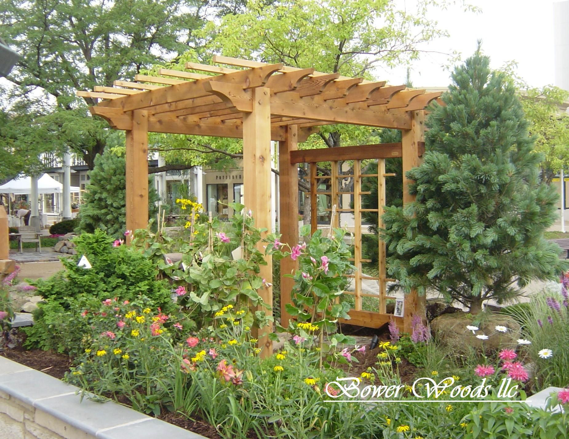 pergola ideas Bower Woods llc. Custom Garden Structures