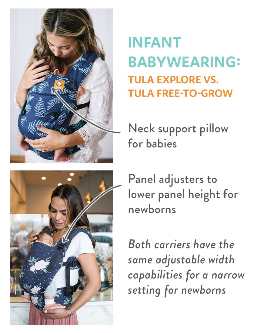 a945f22ff0a Infant Babywearing - Tula Explore Baby Carrier and Tula Free-to-Grow Baby  Carrier