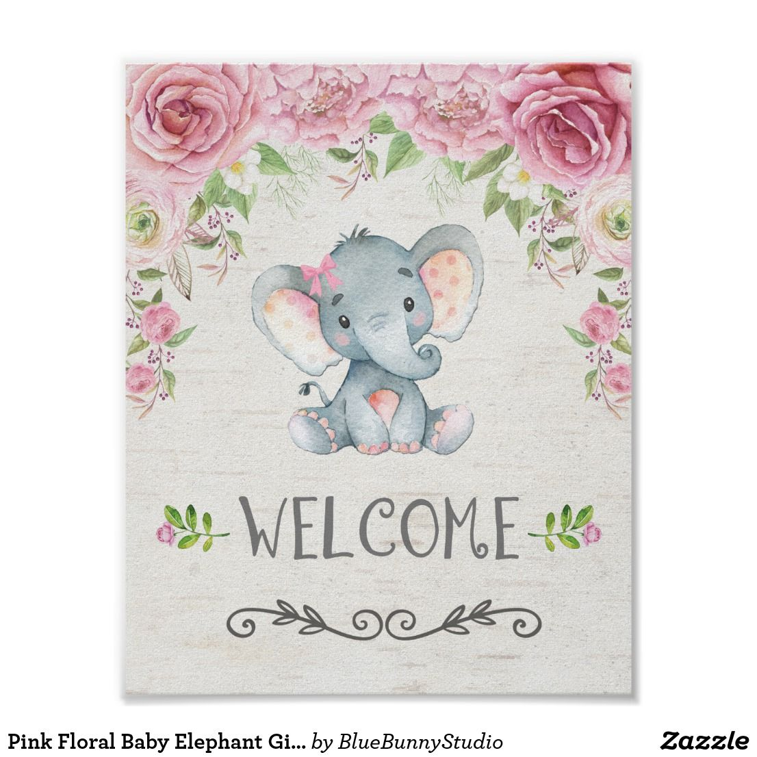 Watercolor Elephant Personalized Notepad Mama Baby Teacher Note Pad Letter /& 12 letter size Rose Mother/'s Day Gift