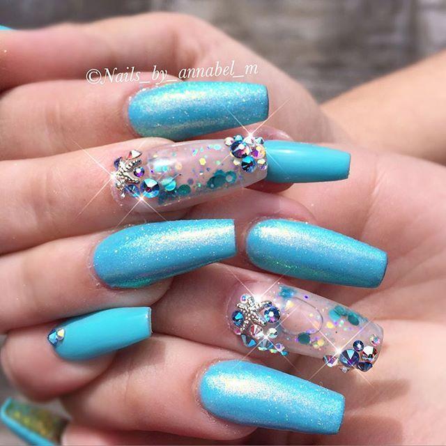 aquarium nail art nails annabel