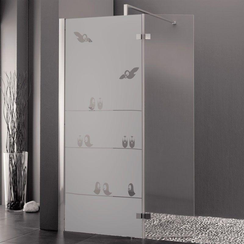 une famille d 39 oiseaux ludiques s 39 est donn rendez vous sur votre paroi de douche pour papoter. Black Bedroom Furniture Sets. Home Design Ideas