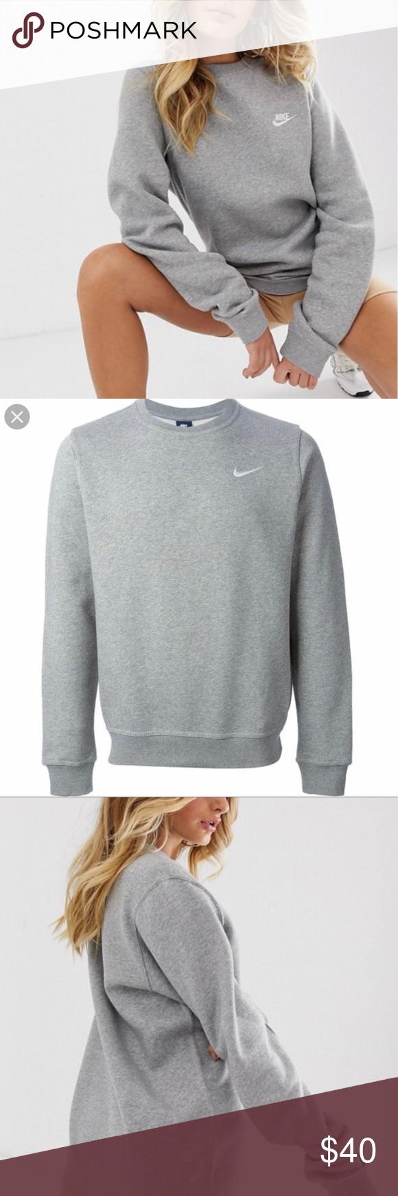 Nike Club Swoosh Crewneck Sweatshirt Sweatshirts Crew Neck Sweatshirt Clothes Design [ 1740 x 580 Pixel ]