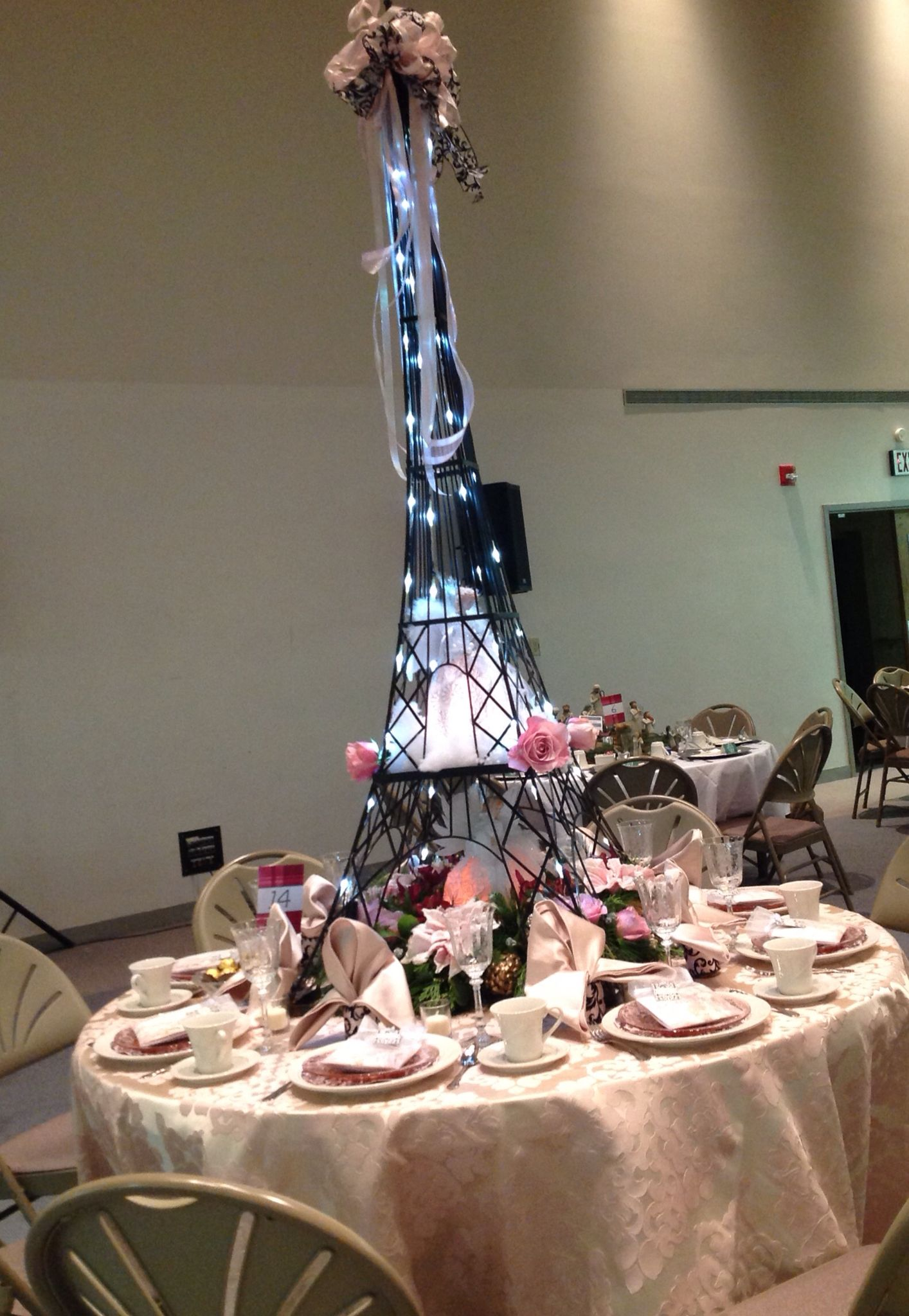 Amazing Christmas centerpiece, Paris inspired, Eiffel Tower