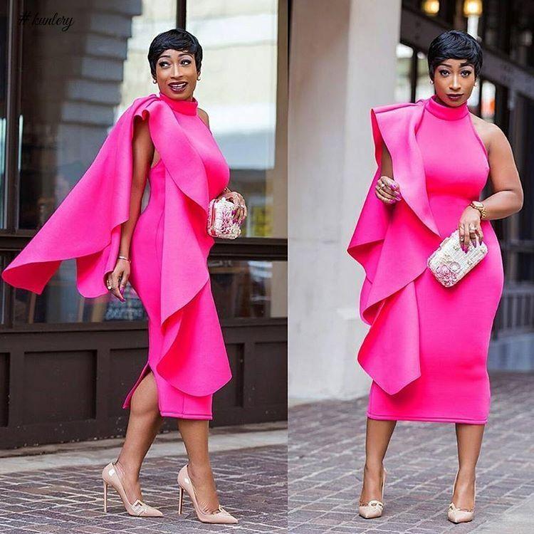 Wedding Guest Style Slay Queen S Fashion Elegant Midi Dresses Gorgeous Summer Dresses,Tea Length Dresses For Wedding Guest