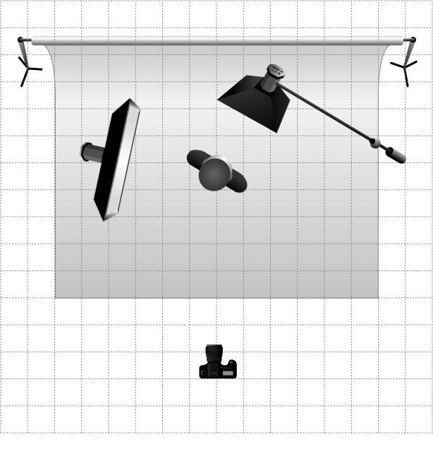 Схема фотосъемки сверху