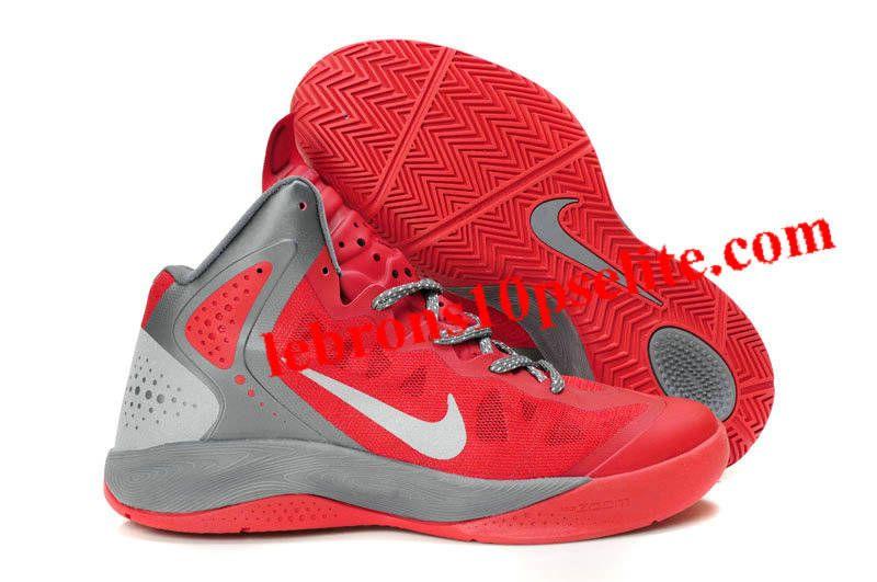big sale fa3c8 2e1b1 Nike Zoom Hyperenforcer Red White Gray
