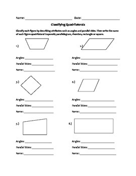 quadrilaterals worksheet worksheets students and teacher. Black Bedroom Furniture Sets. Home Design Ideas