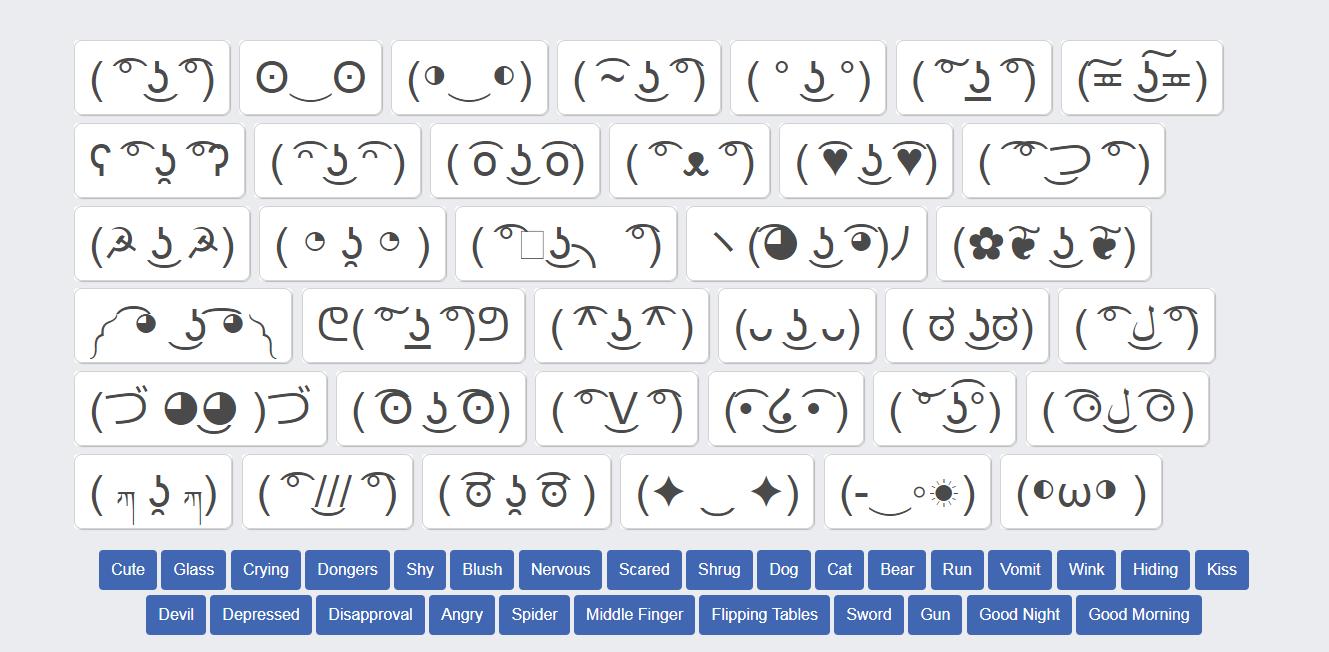 Lenny Face Copy Text Symbols Emoji Texts Kawaii Faces