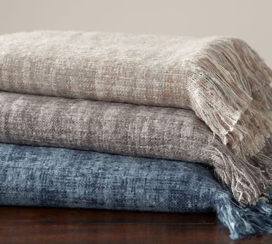Spacedyed Mohair Throw Mohair Throw Thrown Pottery Bed