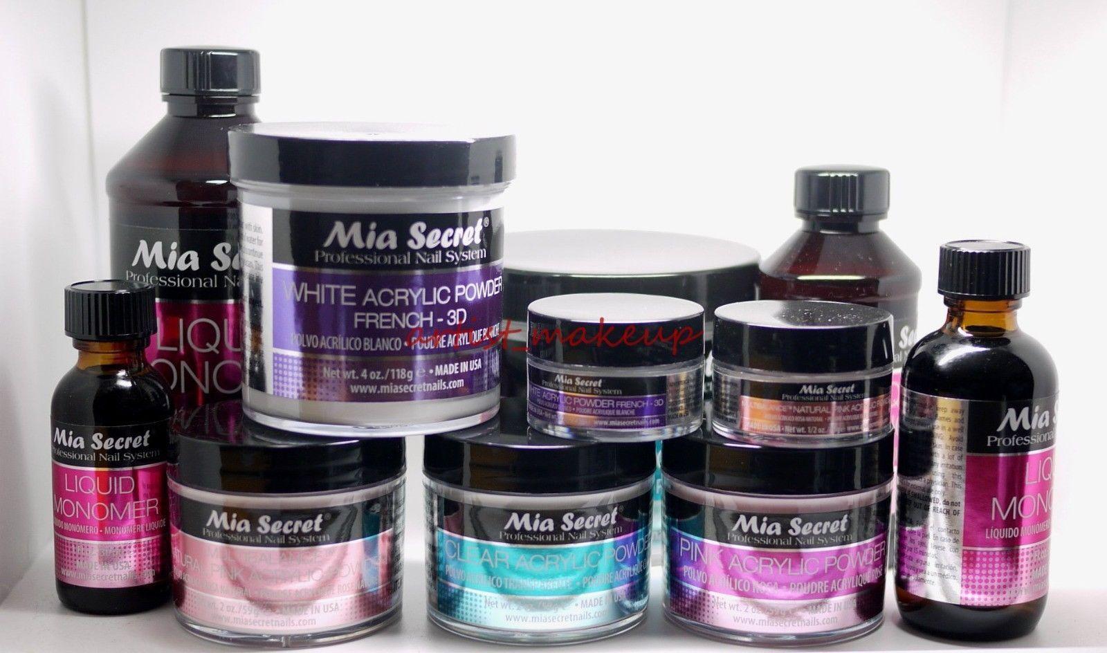 Mia Secret Liquid Monomer Acrylic Powder Set Choose Your Set Ebay Acrylic Powder Acrylic Nail Kit Acrylic Nail Powder