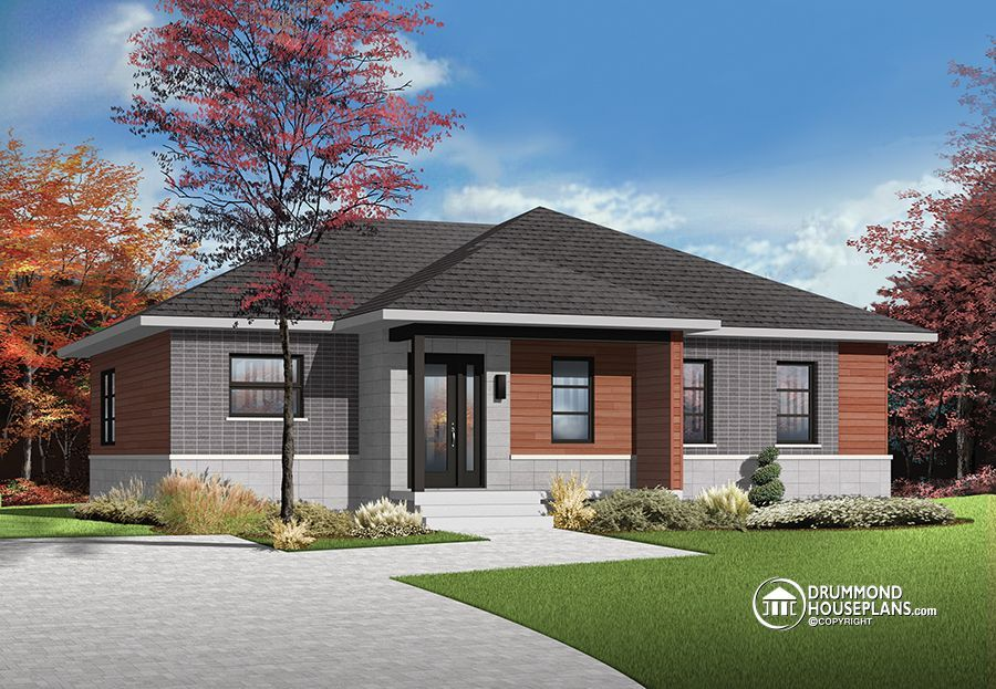 House Plan of the Week Sweetly Serene Bungalow Modern