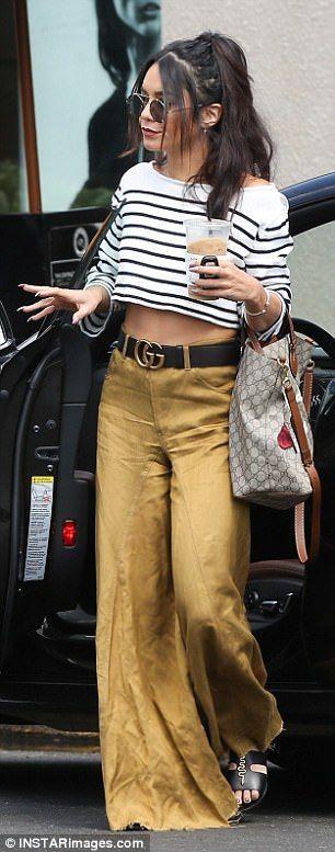 Vanessa Hudgens shows off tum as she leaves salon with shorter 'do