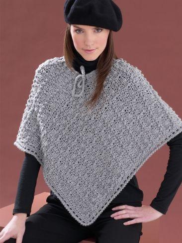 Perfect Patterned Poncho Free Crochet Pattern Yarnspirations
