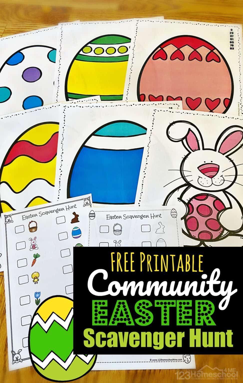 Free Printable Neighborhood Easter Scavenger Hunt Easter Activities For Kids Easter Scavenger Hunt Easter Games For Kids