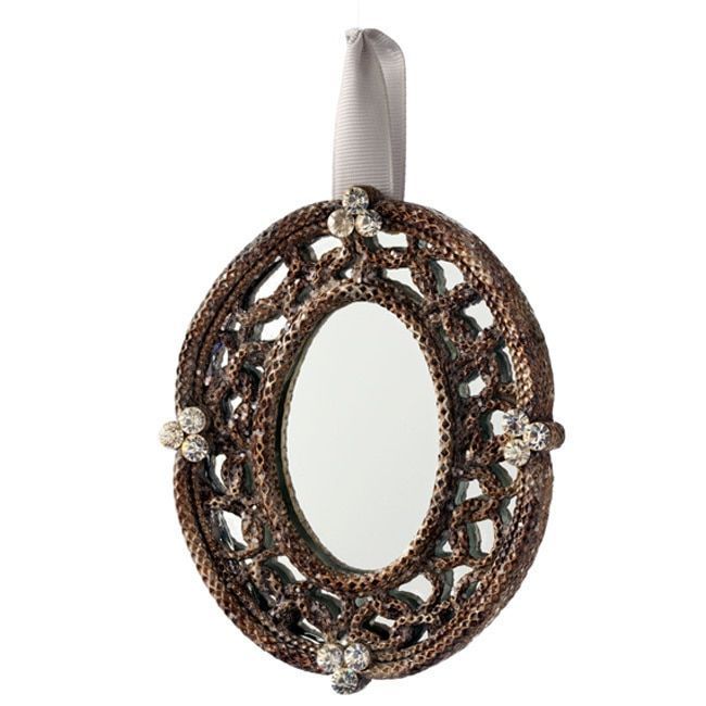 Sage & Co Sage & Co. Mirrored Oval Picture Frame Christmas Ornaments