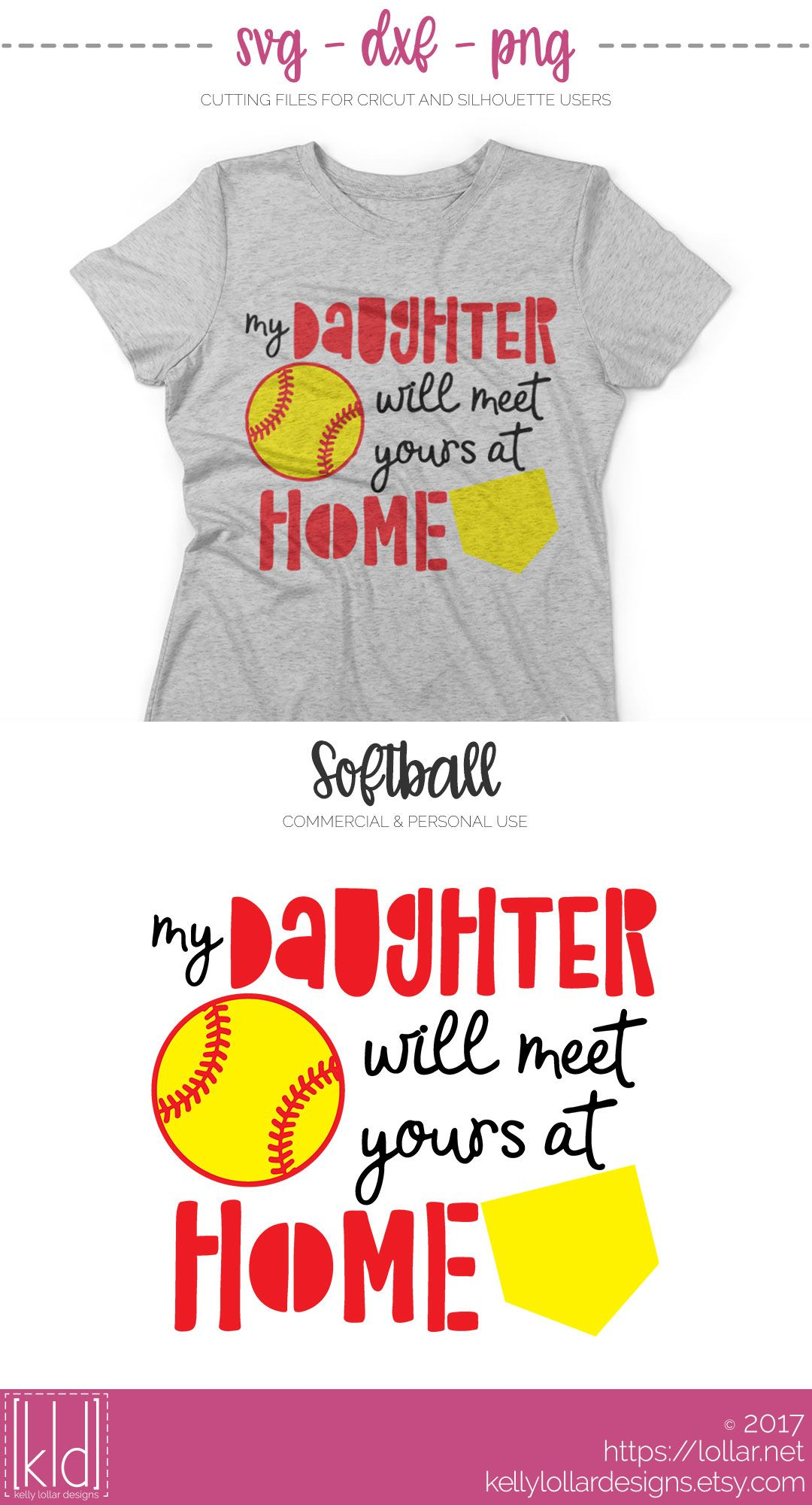 911a28dd My Daughter Will Meet Yours at Home - Softball Catcher Mom svg file - Free  For Personal Use by Kelly Lollar Designs