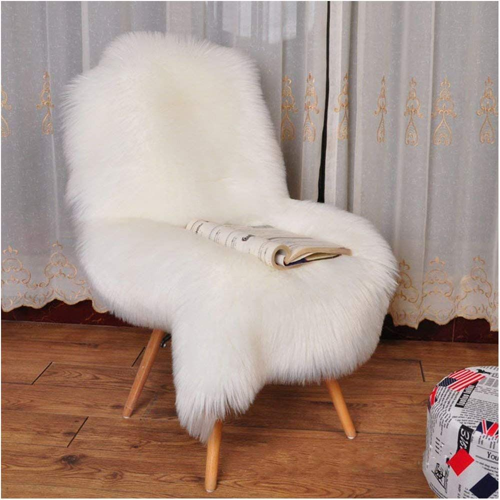 Terrific Yj Gwl Soft White Fluffy Faux Fur Sheepskin Area Rug For Pdpeps Interior Chair Design Pdpepsorg