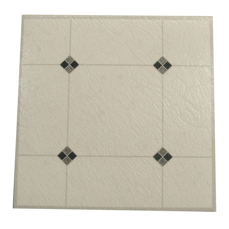 Winton Self Stick Black Diamond Vinyl Floor Tiles