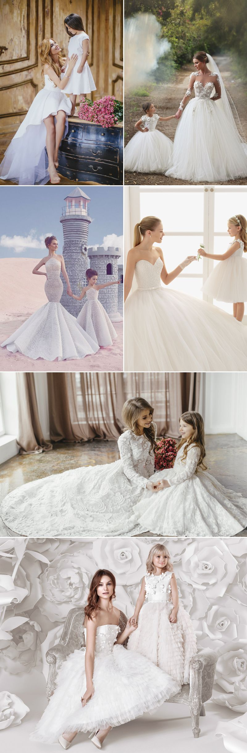 82739044787 Here Comes the Mini Bride! Adorable Matching Gowns for The Bride and Her  Flower Girl!