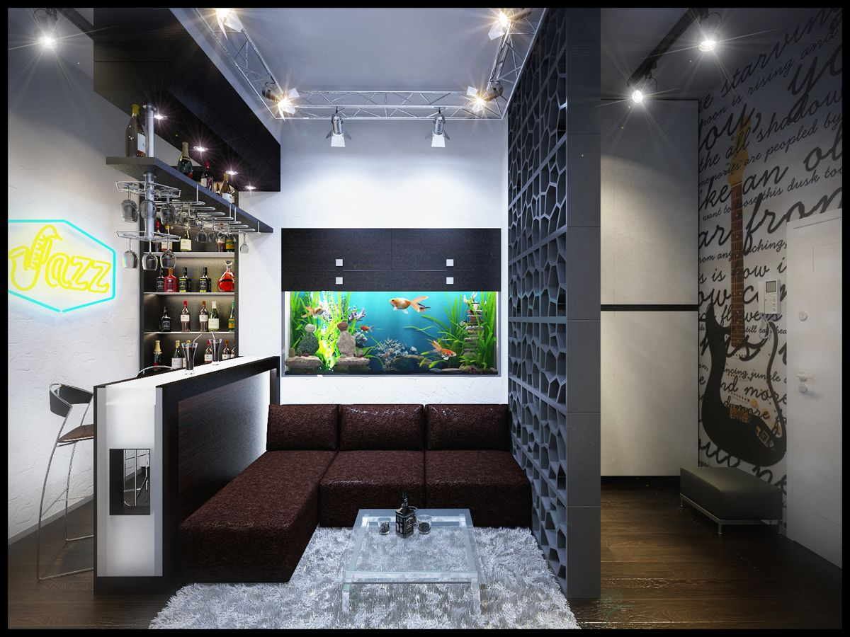 Дизайн квартиры для молодого, активного, жизнерадостного парня ...
