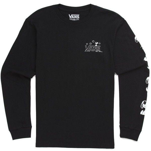 8f6fdfea5f Vans x Peanuts Long Sleeve T-Shirt (98 BRL) ❤ liked on Polyvore ...