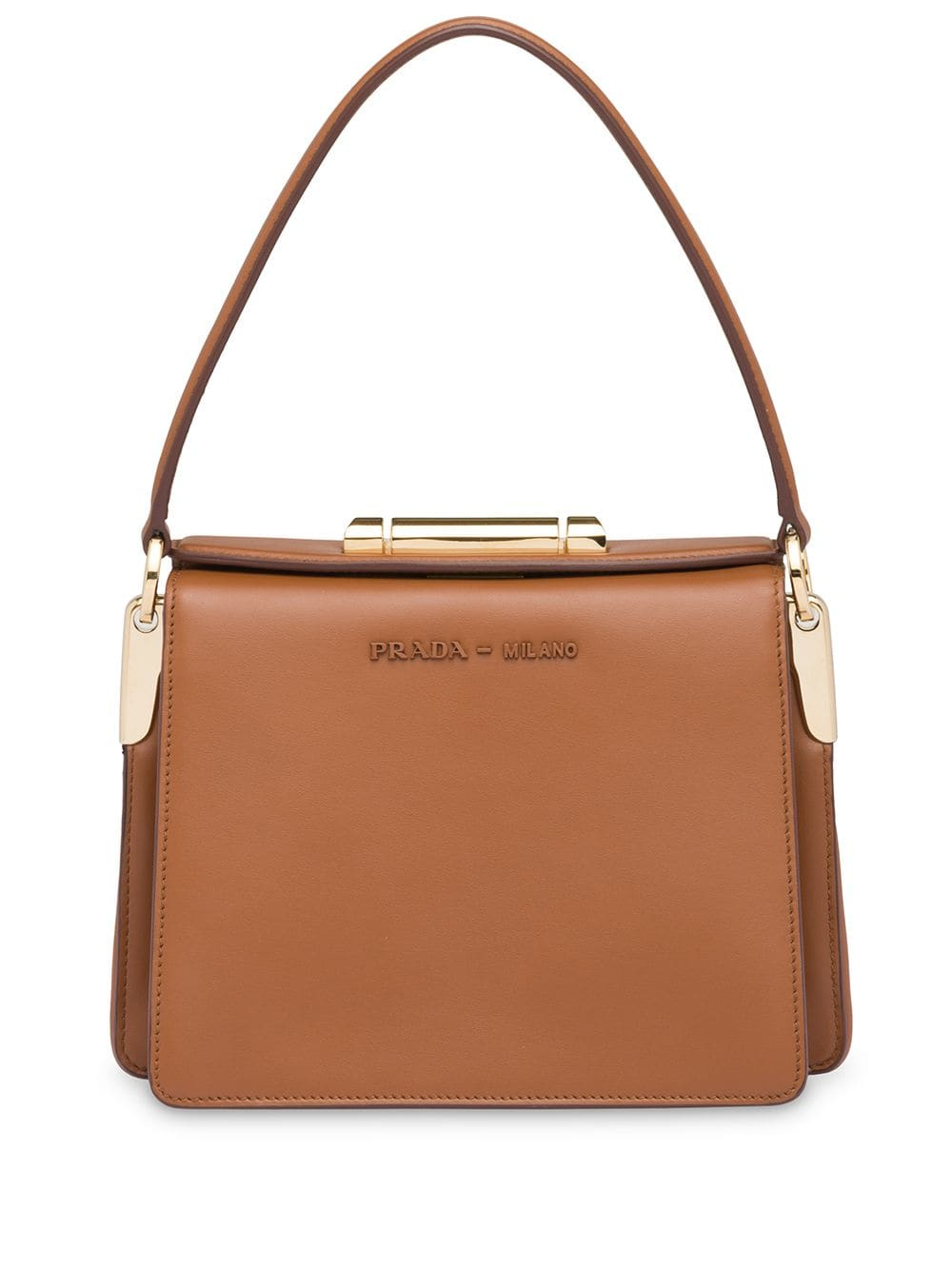 52bc8b2429 Prada Prada Sybille leather bag - Brown in 2019 | Products | Bags ...