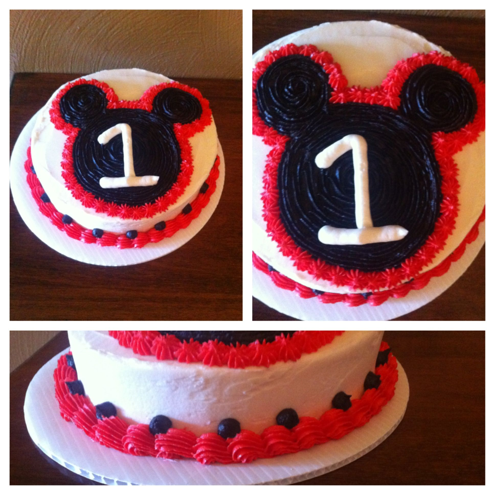 Mickey Mouse Smash Cake: Mickey Mouse Smash Cake