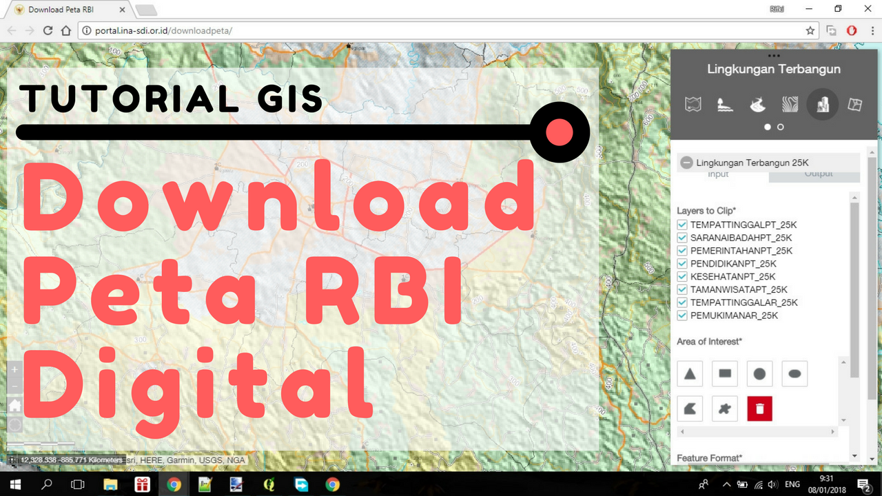 Peta Indonesia: Simbol Peta Rbi