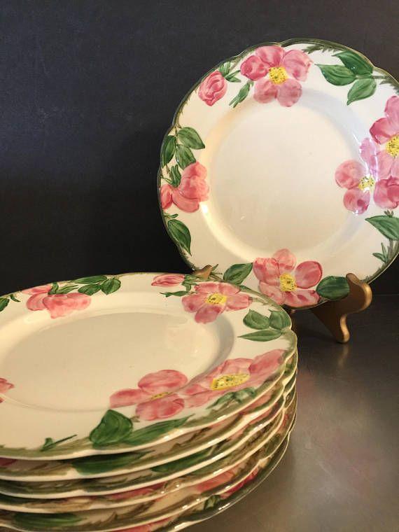 Franciscan Ware Desert Rose Luncheon Plates Set of 7 Made in & Franciscan Ware Desert Rose Luncheon Plates Set of 7 | Made in ...